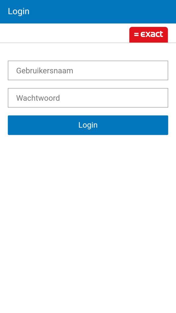 Barcode Scanner inloggen Exact Online