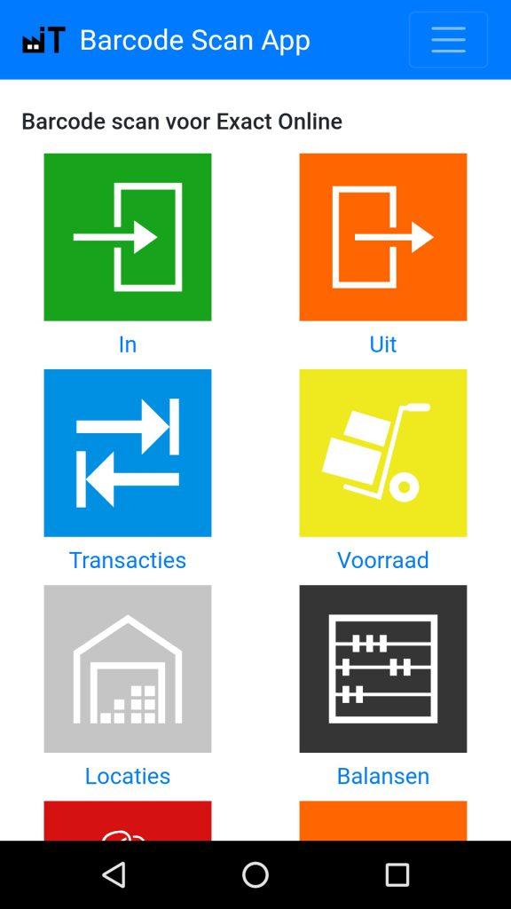 Exact Online Barcode Scanner app