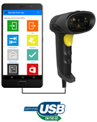 USB OTG barcode scanner