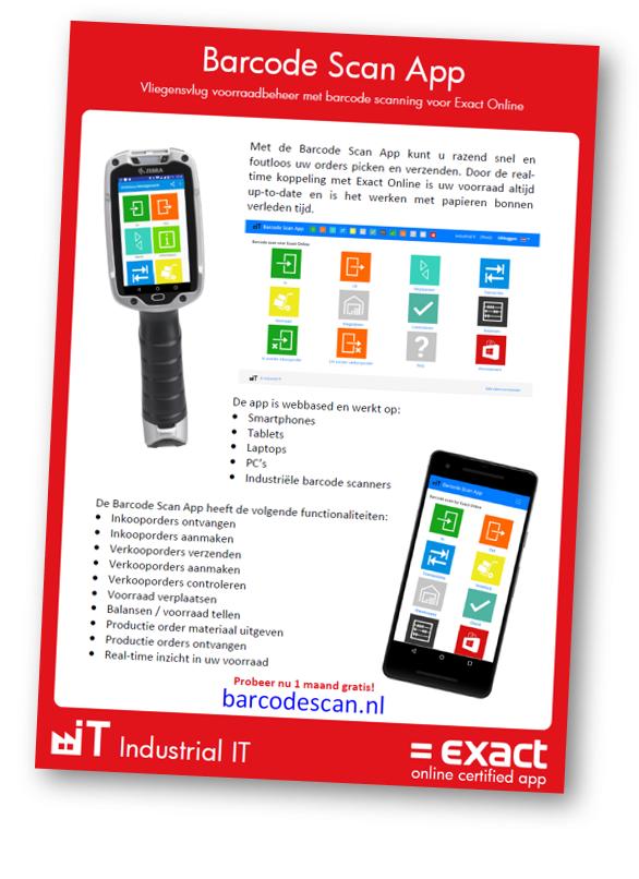 Exact Online Barcode Scan App - Razendsnel voorraad verwerken